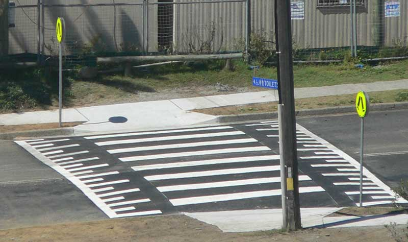 Line Drawing Of Zebra Crossing : Line marking the dark light principle of design