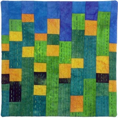 Mitred Facing Tutorial - Dandelion Meadow © 2008 Brenda Gael Smith
