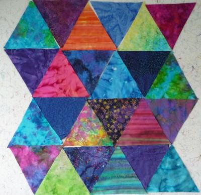 kaleidoscope quilt-in-progress