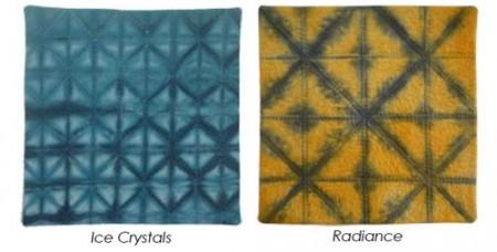 Examples of Folding Resist Shibori by Brenda Gael Smith