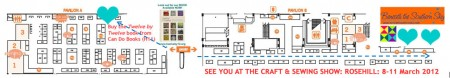 Rosehill Floorplan 2012 Craft & Sewing Show