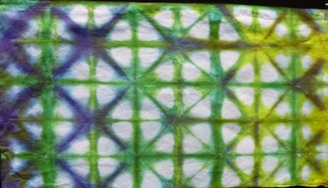folded shibori
