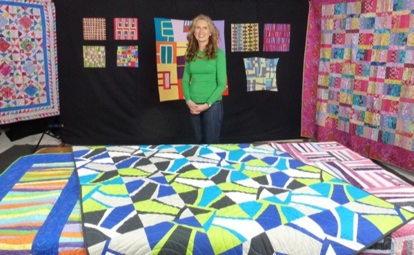 On set with Modern Quilt