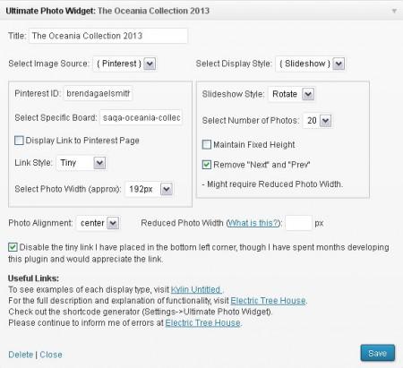 Configuring Ultimate Photo Widget