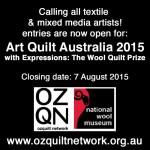 Call for entries:   Art Quilt Australia 2015