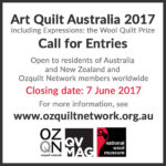 Art Quilt Australia 2017: Call for Entries