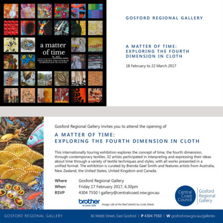 Invitation to a matter of time at Gosford Regional Gallery