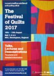 Join me at Festival of Quilts (UK): 10-13 August 2017