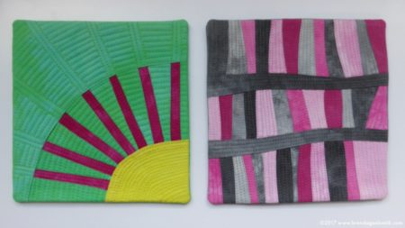 Pigface and Galah textile sketches by Brenda Gael Smith