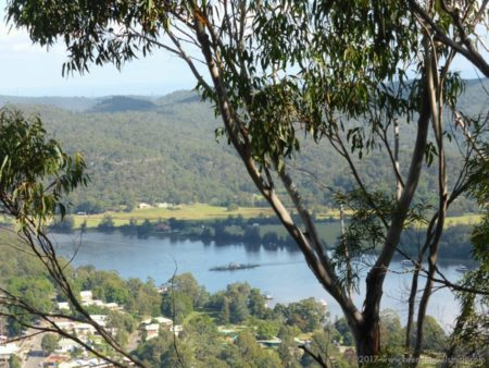 View over the Hawkesbury & Webbs Creek Ferry from Finchs Line Lookout