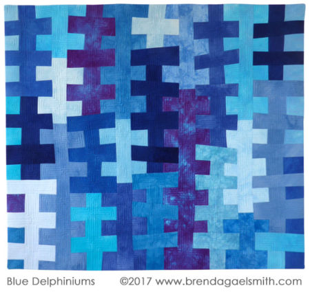 Blue Delphiniums by Brenda Gael Smith at Dare to Differ 2017