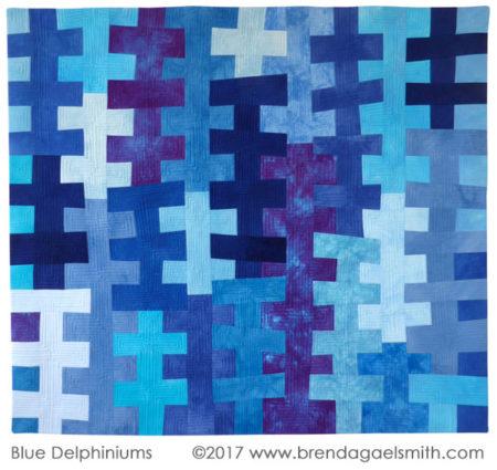 Blue Delphiniums by Brenda Gael Smith at Dare to Differ 2017