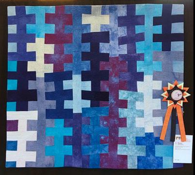 Blue Delphiniums Modern Quilt Show Australia 2017 Second Prize Brenda Gael Smith