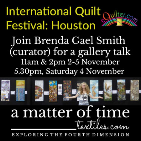 A Matter of Time gallery talks at the International Quilt Festival