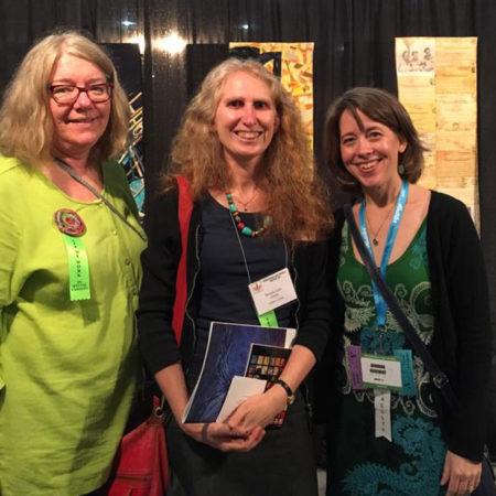 Monica Johnstone, Brenda Smith and Deborah Boschert at International Quilt Festival 2017