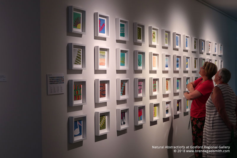 Natural Abstractions exhibition at Gosford Regional Gallery - Brenda Gael Smith textile art