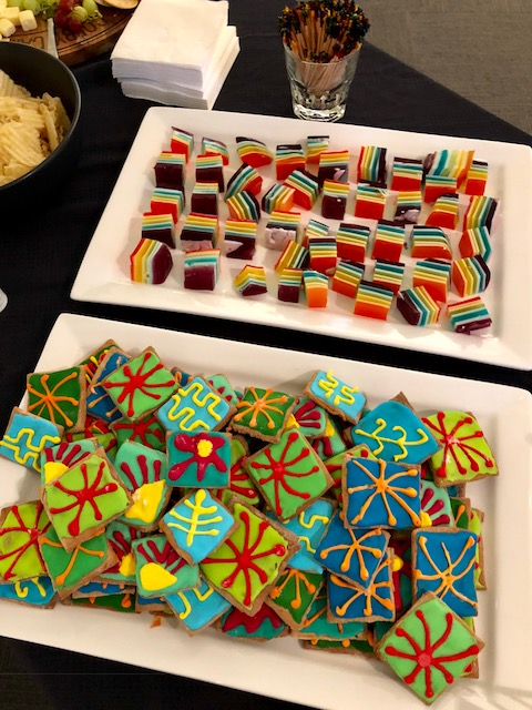 Refreshments at Natural Abstractiosns Exhibtion