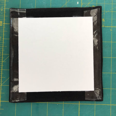 Affix the mounting square