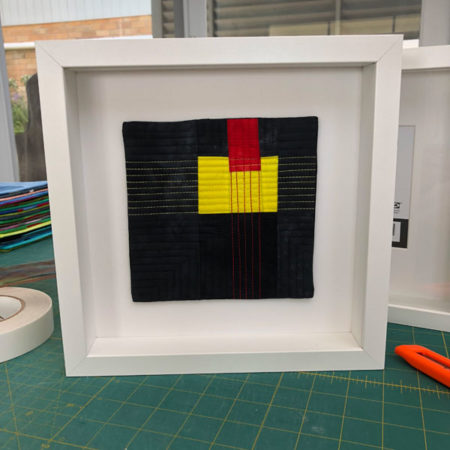 Insert the textile painting