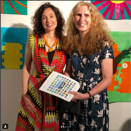 Rachaeldaisy and Brenda Gael Smith at the Natural Abstractions Opening