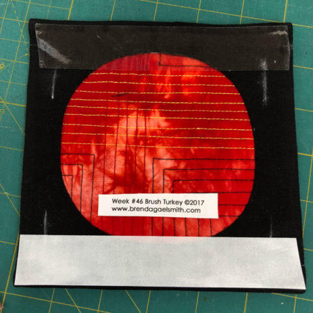 Apply double-sided archival tape