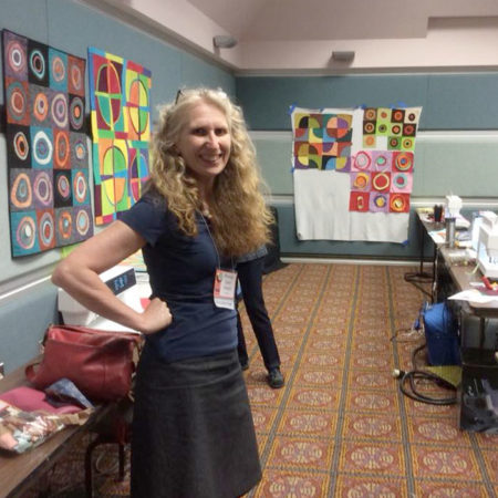 Brenda Gael Smith teaching at Pacific International Quilt Festival