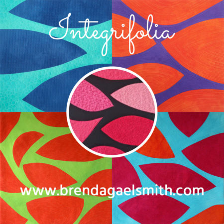 Integrifolia textile paintings by Brenda Gael Smith