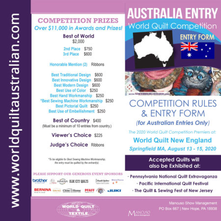 Enter the World Quilt Competition 2020