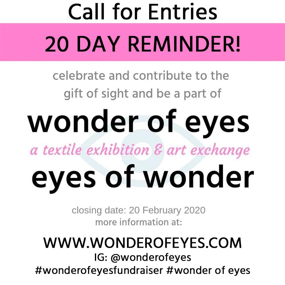 Wonder of Eyes 20 Day Reminder