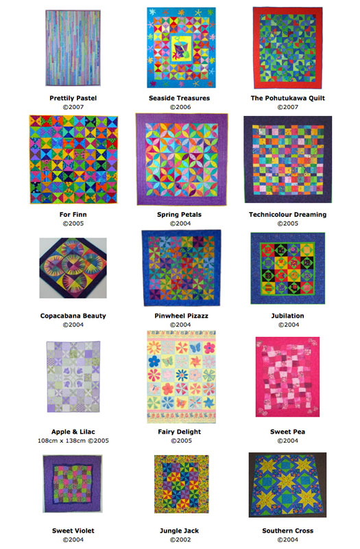 A selection of baby quilts made by Brenda Gael Smith