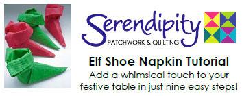 Elf Shoe Napkin Tutorial