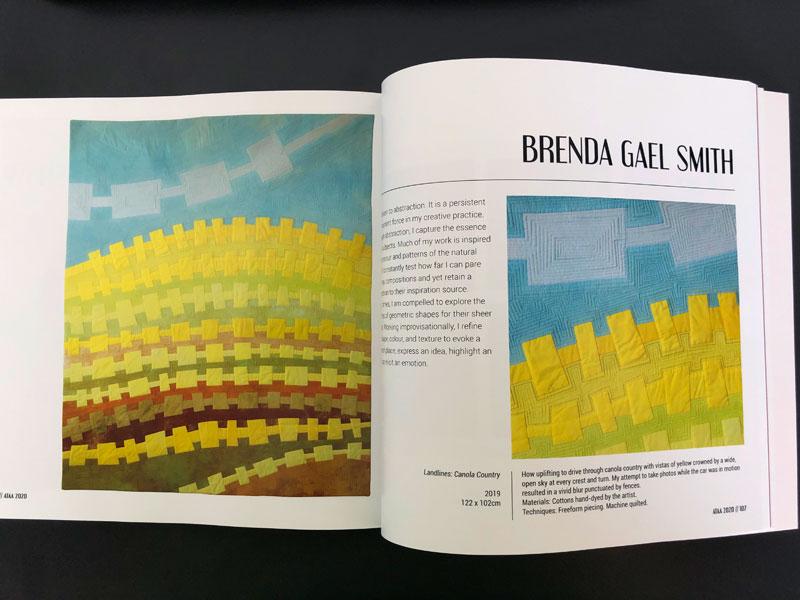 Australian Textile Art Award 2020 - Landlines: Canola Country Brenda Gael Smith